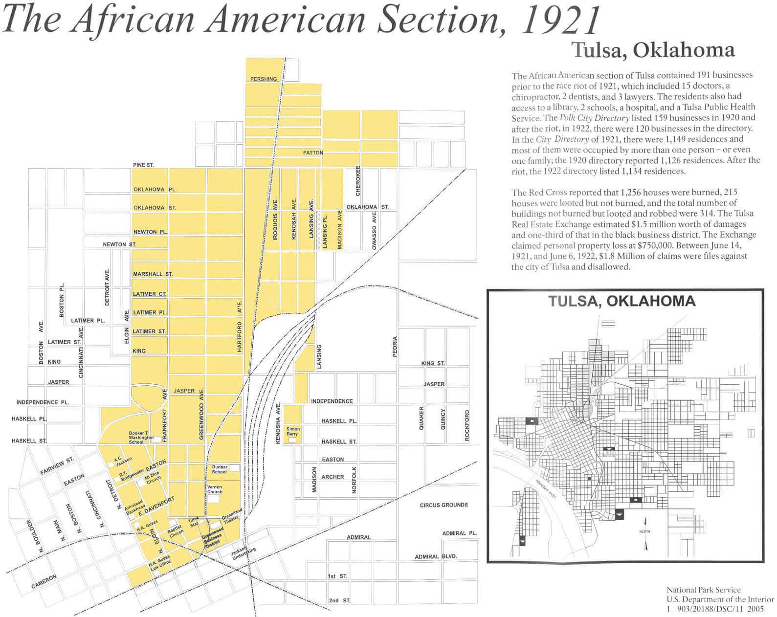 1921 Greenwood Map