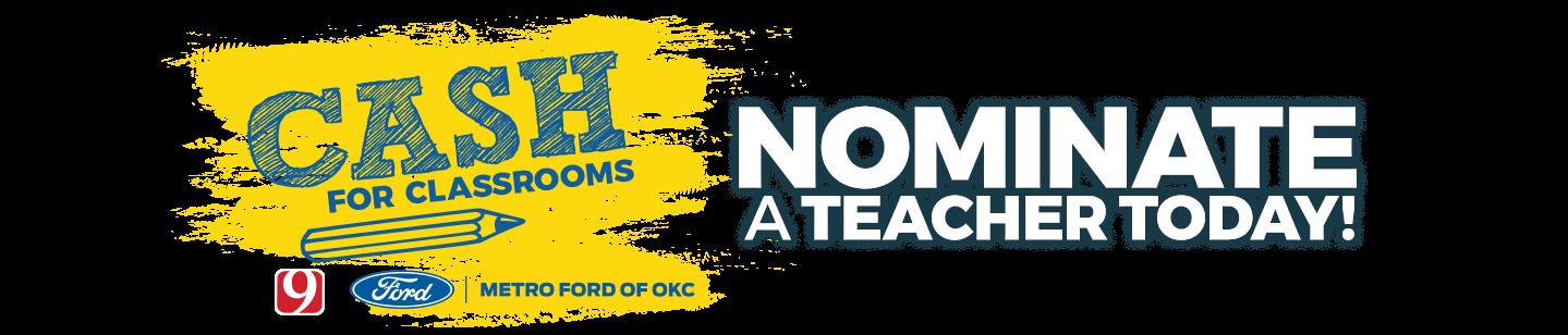 Cash for Schools Nominate a Deserving Teacher