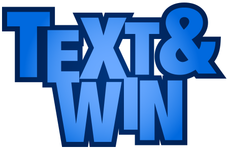 text and win logo